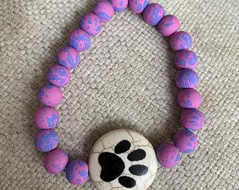 bracelet with a paw print